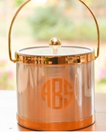 Chrome and Gold Insulated Ice Bucket