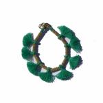 Minnie Emerald Tassel Bracelet