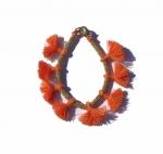 Minnie Orange Tassel Bracelet