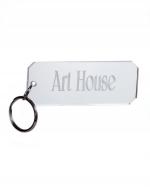 Monogram Rectangle Acrylic Key Chain
