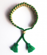 Callie Tassel Bracelet - Emerald