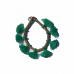Minnie Emerald Tassel Bracelet