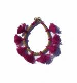 Minnie Magenta Tassel Bracelet