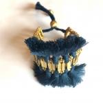 Mollie Tassel Bracelet - Navy