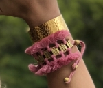 Mollie Tassel Bracelet - Light Pink