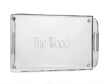 Monogram Acrylic Butler Tray with Handles