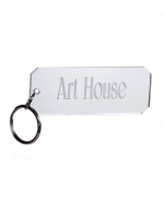 Monogram Rectangle Acrylic Key Chain