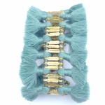 Nicole Tassel Bracelet - Dusty Blue