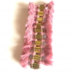 Nicole Tassel Bracelet - Light Pink
