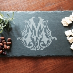 Slate Cheese Server with Single Letter - Three Sizes