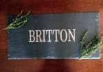Slate Cheese Server with Name- Three Sizes